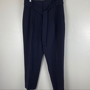 DKNY High Waist Tie Front Trousers